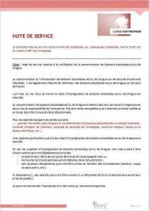 exemple note de service securite document