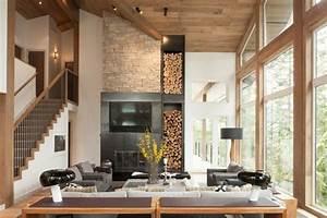 Moderne Holzdecken Beispiele : wohnzimmer renovieren 100 unikale ideen ~ Markanthonyermac.com Haus und Dekorationen