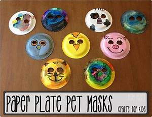 How to make paper plate animal masks | Kids Activities ...