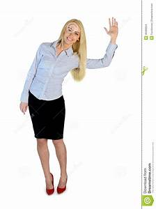Business Woman Wave Hand Stock Photo - Image: 49406624