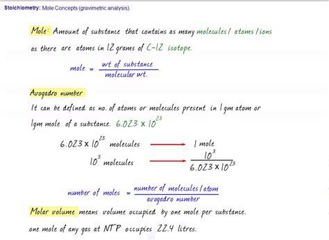 Iit (chemistry) Stoichiometry  Mole Concepts (httpwwwtopchalkscom) Youtube