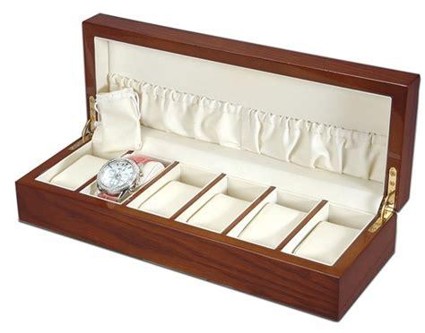 coffret montres en bois d acajou achat vente boite montres en bois bois et poterie