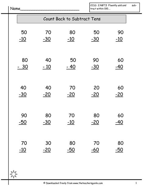 15 Best Images Of 100 Addition And Subtraction Worksheets  100 Problem Math Fact Worksheets
