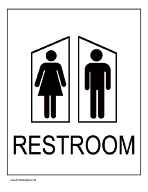 printable s and s restrooms sign