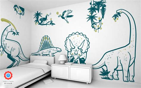 Dinosaur Wall Decals For Kid's Playroom Or Bedroom, Dino