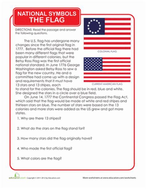 History Of The American Flag  Worksheet Educationcom