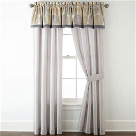 home expressions celeste 2 pack curtain panels jcpenney