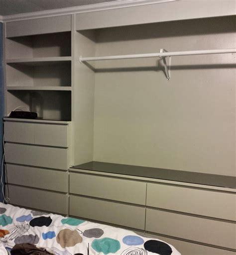 IKEA Hack BuiltIn Wardrobe Using Malm Dressers Laundry
