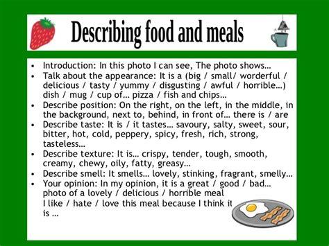 Describing Food