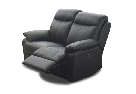 canap 233 2 places cuir relax victory noir
