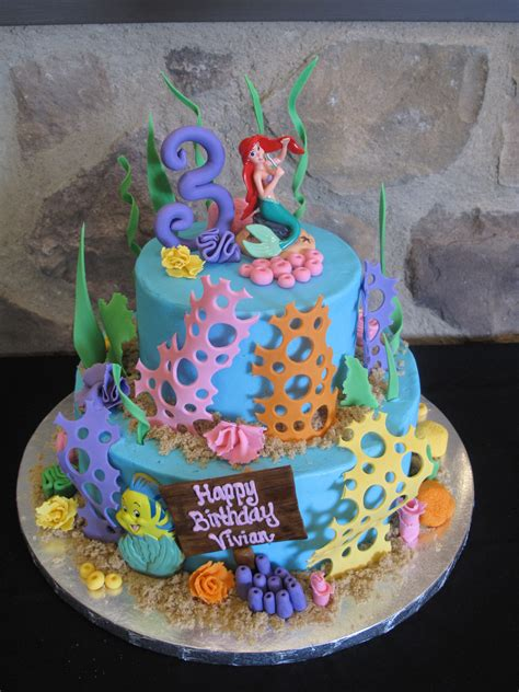 ariel birthday cake character cakes