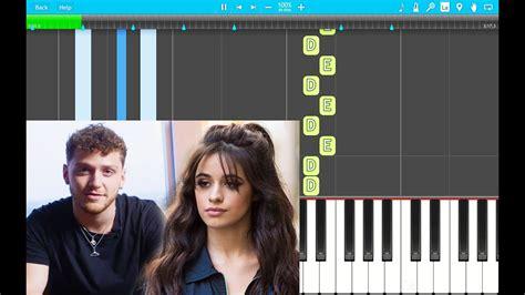 Beautiful Feat. Camila Piano Tutorial Easy (piano