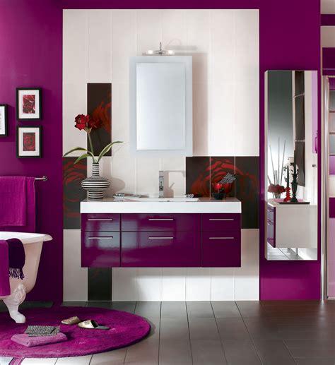meuble salle de bain aubergine chaios