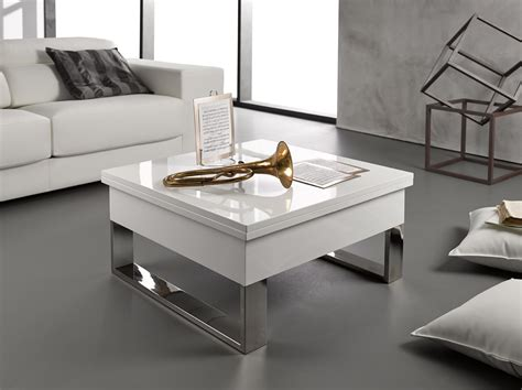 table basse blanc laqu 233 relevable extensible latablebasse