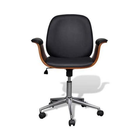 superbe chaise pivotante avec accoudoir en cuir artificiel r 233 glable achat vente chaise salle a