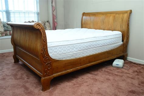 size ethan allen country maple sleigh bed ebth