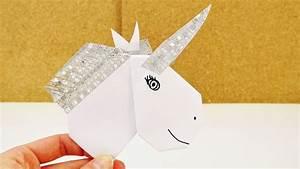 Einhorn Basteln Papier : diy einhorn aus origami herz washi tape selber basteln deko oder einladung selber machen ~ Markanthonyermac.com Haus und Dekorationen