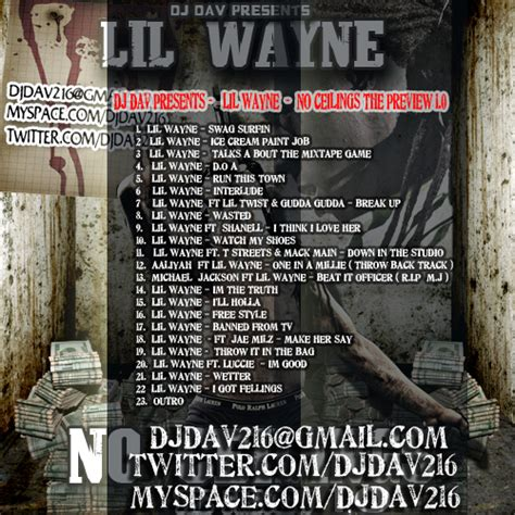 lil wayne lil wayne no ceilings 1 0 host by djdav hosted by dj dav mixtape