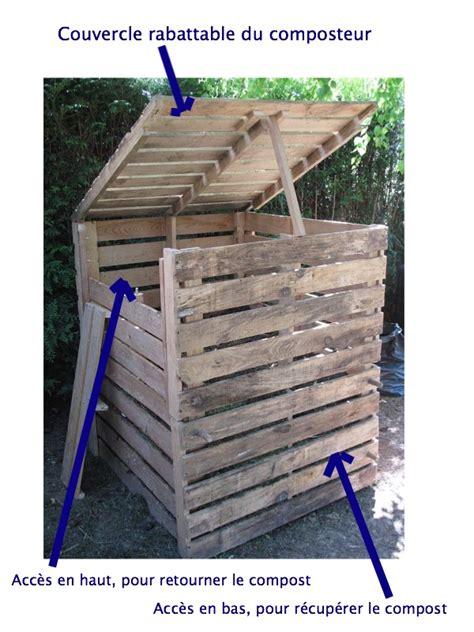 comment fabriquer un composteur pour faire propre compost palettes fils