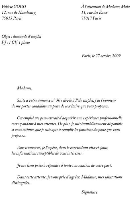lettre de motivation pour un emploi lettre de motivation pour une formation jaoloron