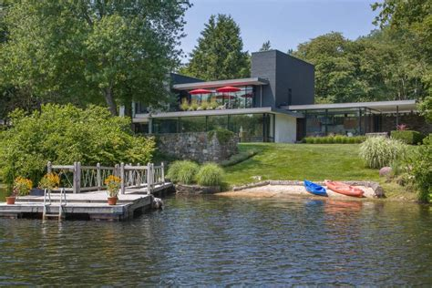The Open Boat Main Idea tour a midcentury modern lake house in bedford n y