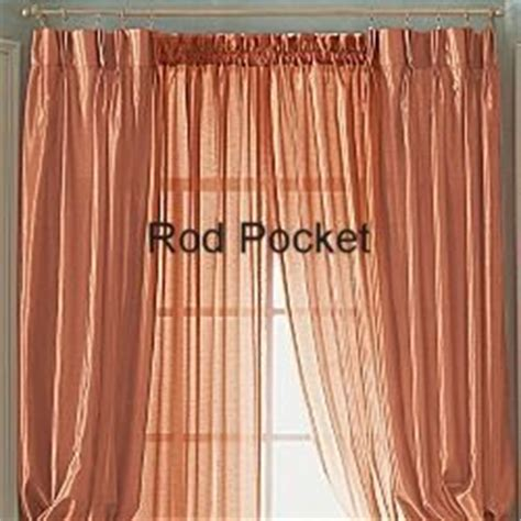 jcpenney sheer rod pocket curtain set