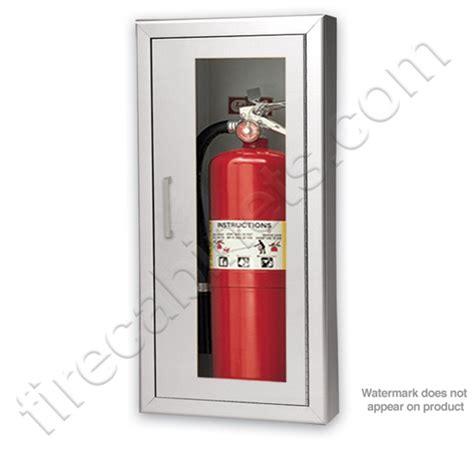larsen s aluminum semi recessed 2 1 2 extinguisher