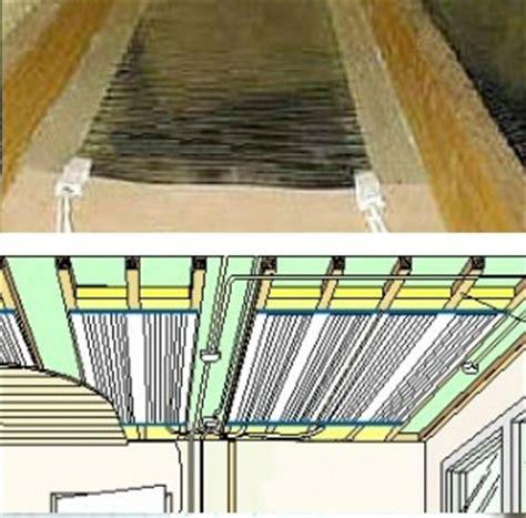 le pafond chauffant radiateur de plafond rayonnant