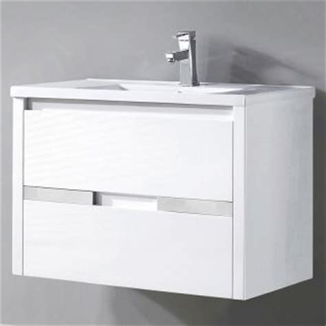 miseno mvch32 white 32 3 10 quot wall mounted vanity set with cabinet acrylic vanity top