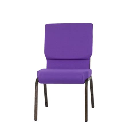 hercules series 18 5 w stacking church chair in purple fabric gold vein frame xu ch 60096 pu gg