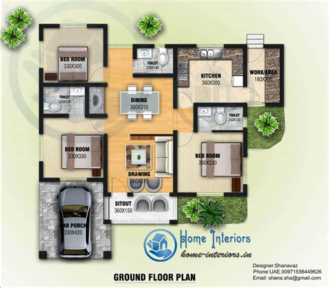 house plans and design contemporary house plans with 1300 sq ft single floor contemporary home design