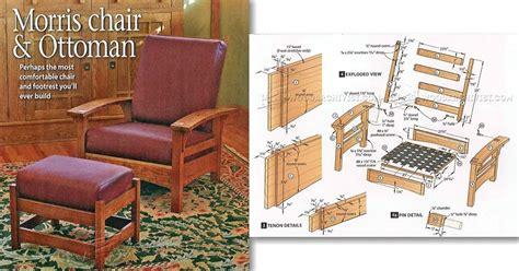 2412 morris chair and ottoman plans woodarchivist