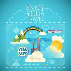 Enjoy your travel illustration Free vector in Adobe ...