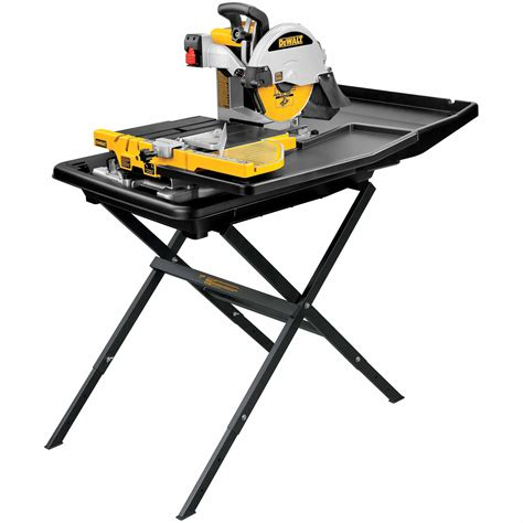 dewalt d24000s heavy duty 10 quot tile saw with stand