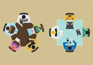Vector Office Groups From Above - Download Free Vector Art ...