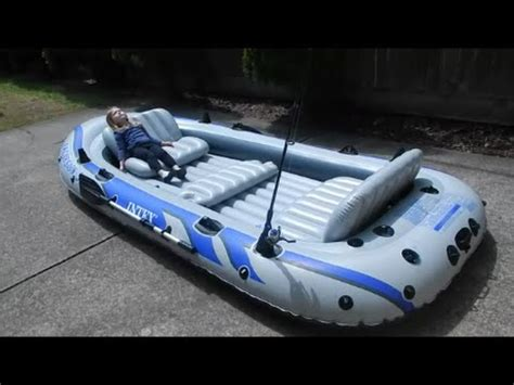 Intex Inflatable Boat Review by Intex Excursion 5 Inflatable Boat Review Part 1 Youtube