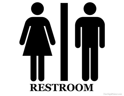 printable unisex restroom sign