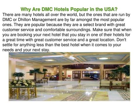 Ppt  Why Are Dmc Hotels Popular In The Usa? Powerpoint