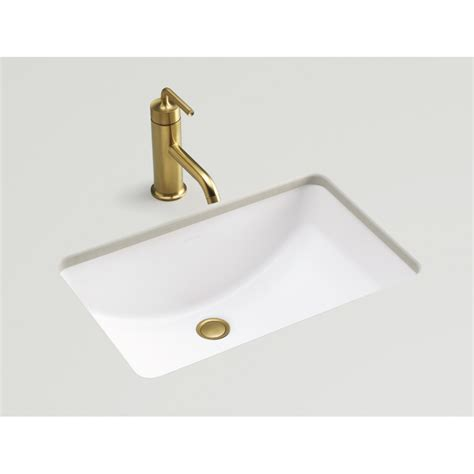 Small Rectangular Undermount Bathroom Sink by Shop Kohler Ladena Honed White Undermount Rectangular