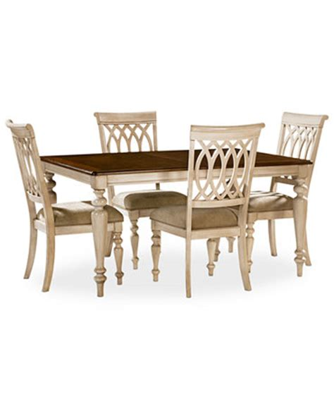 dovewood dining room furniture 5 set table and 4 side chairs furniture macy s
