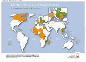 La carte de la Francophonie | FLE : la Francophonie ...