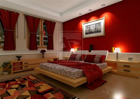 Red Bedrooms : Bedroom At Real Estate