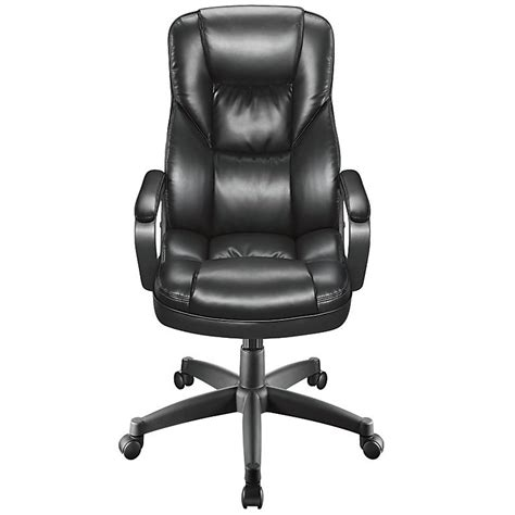 realspace fosner high back bonded leather chair black