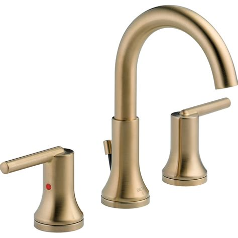 shop delta trinsic chagne bronze 2 handle widespread watersense bathroom faucet drain