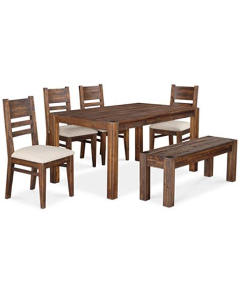 avondale 6 pc dining room set only at macy s table bench 4 side chairs furniture macy s