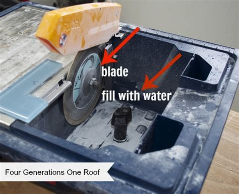 how to cut glass tile using a saw four generations one roof