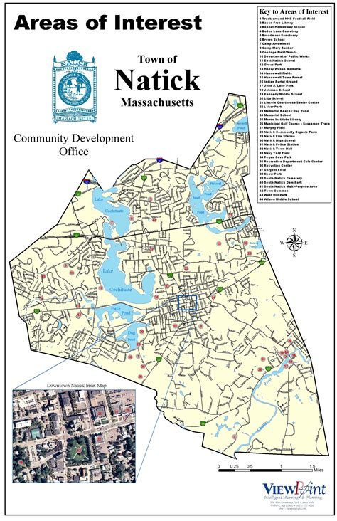 Natick Areas Of Interest Map  Natick Massachusetts • Mappery