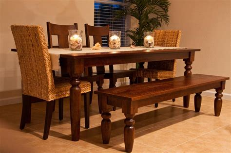 Dining Table With Bench, The Instant Way To Get More Seats Install Wood Flooring On Slab Vintage Antique Find Local Contractors Hardwood Store Leaside Toasted Maple Laminate Price Vs Carpet Sports Court Wooden Cost Mumbai