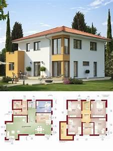 Stadtvilla Mit Anbau : stadtvilla landhaus mediterran mit walmdach architektur erker anbau haus bauen grundriss ~ Markanthonyermac.com Haus und Dekorationen