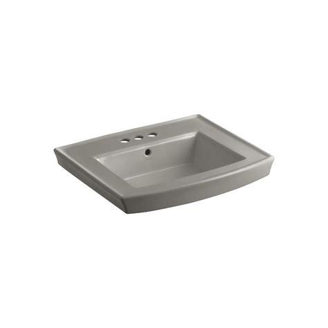 Kohler Archer Pedestal Sink Home Depot by Kohler Archer 4 In Vitreous China Pedestal Sink Basin In